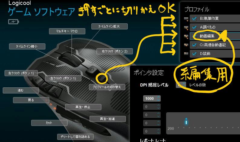 ゲーミングマウスG700s
