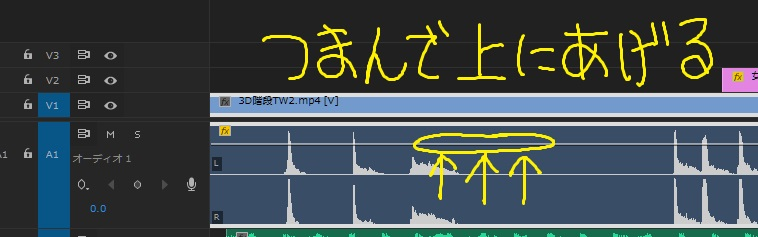 Premiere Proで簡単に音量調節